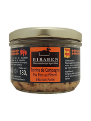 TERRINE CAMPAGNE PIMENT  180GR