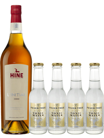 Hine Initial Nicolas' Exclusive Reserve + 4 bottles of Tonic Water Fever Tree