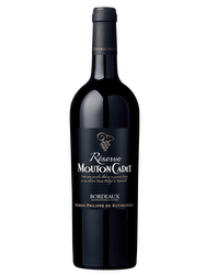 Réserve Mouton Cadet Bordeaux 2013 with its case